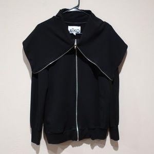 AIKO Full Zip Cowl Neck Sweater sz Small